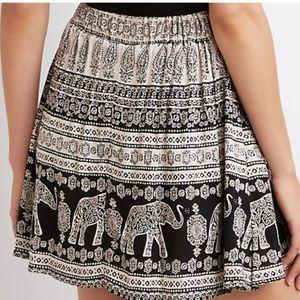 Elephant Pattern Skirt
